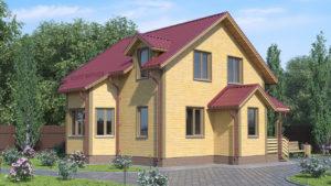 Дом из бруса БСУ-ПБ 11