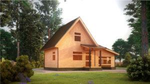 Дом из бруса БСУ-УС 33