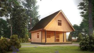 Дом из бруса БСУ-УС 43