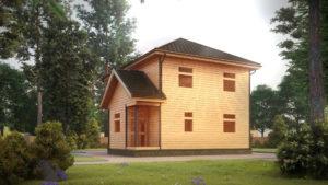 Дом из бруса БСУ-УС 52