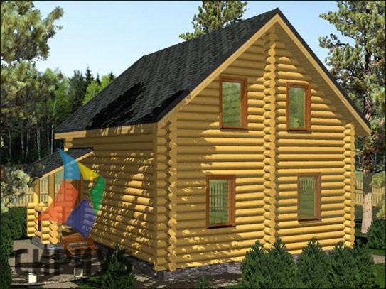 Дом из бревна БСУ-КБ 7