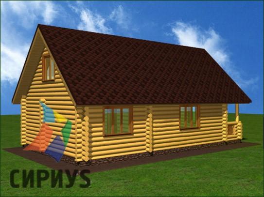 Дом из бревна БСУ-КБ 15