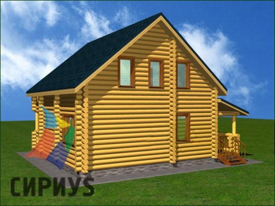 Дом из бревна БСУ-КБ 14