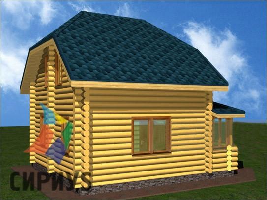 Дом из бревна БСУ-КБ 3