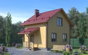 Дом из бруса БСУ-ПБ 1