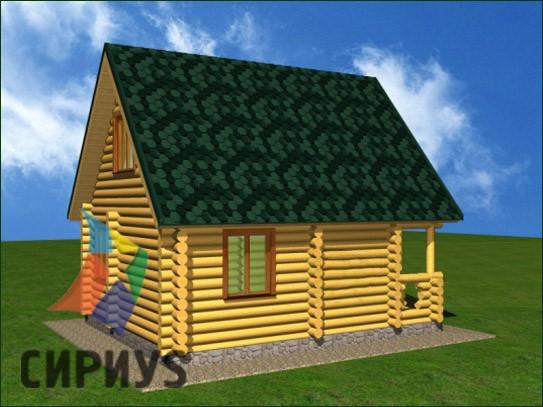 Дом из бревна БСУ-КБ 2