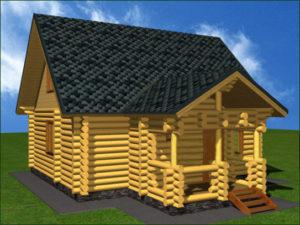 Дом из бревна БСУ-КБ 8