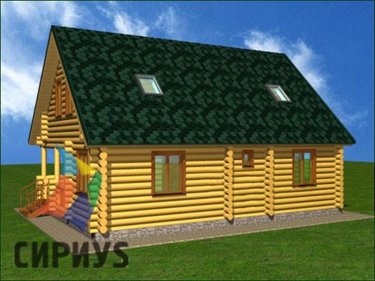Дом из бревна БСУ-КБ 10