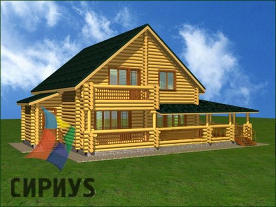 Дом из бревна БСУ-КБ 16
