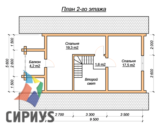 Дом из бревна БСУ-КБ 13