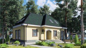 Каркасный дом БСУ-КД 41