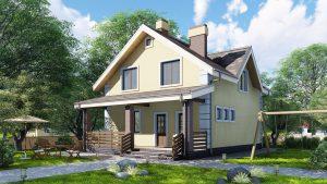 Каркасный дом БСУ-КД 32