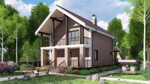 Каркасный дом БСУ-КД 34