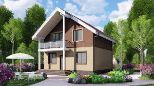 Каркасный дом БСУ-КД 29
