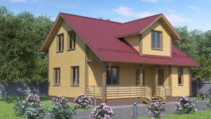 Каркасный дом БСУ-КД 18