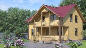 Каркасный дом БСУ-КД 24