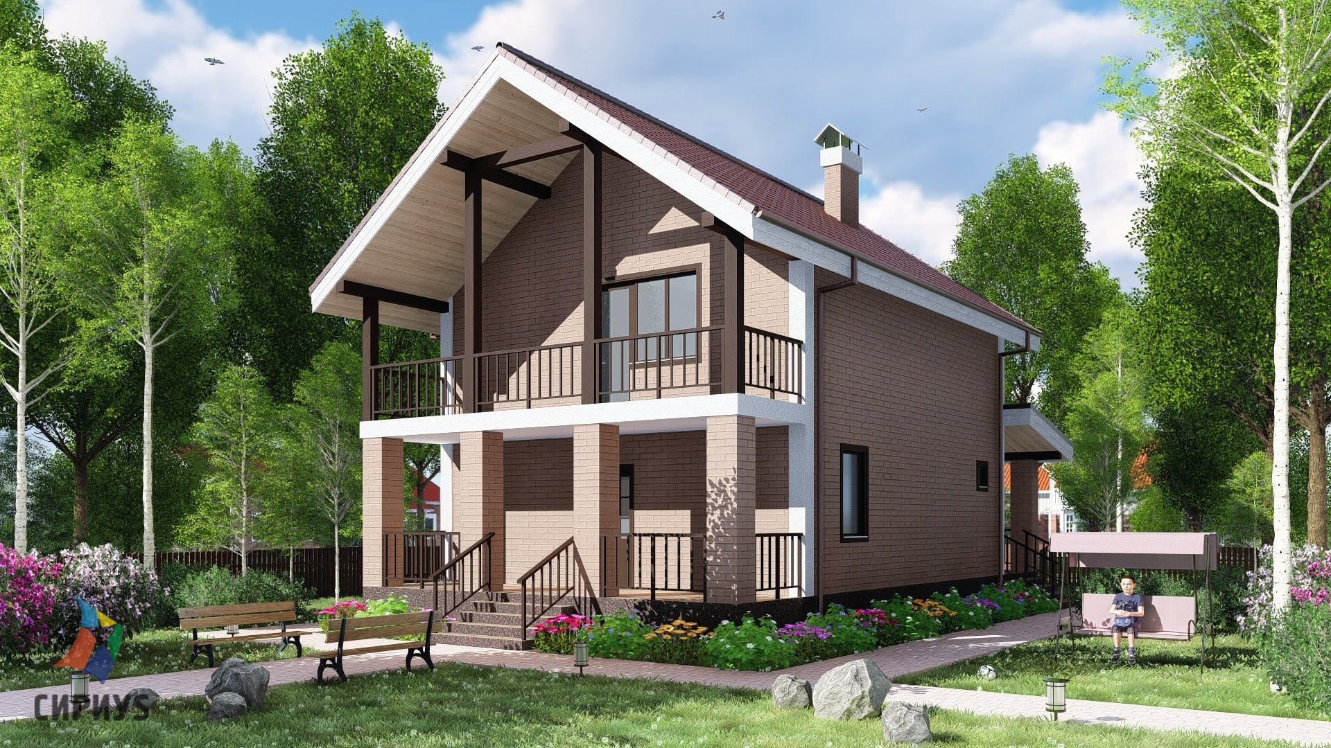 Дом из блоков БСУ-ДБ 10