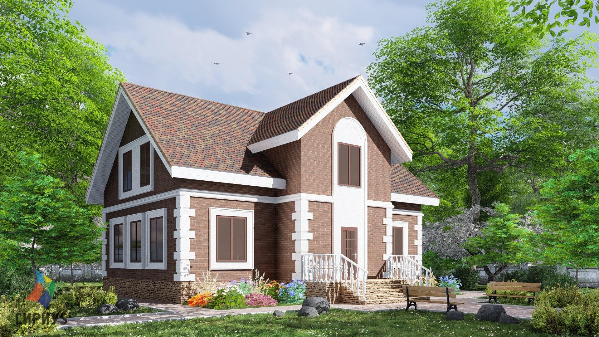 Дом из блоков БСУ-ДБ 12