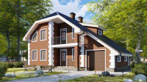Дом из блоков БСУ-ДБ 17