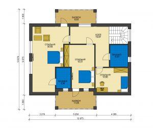 Дом из блоков БСУ-ДБ 37
