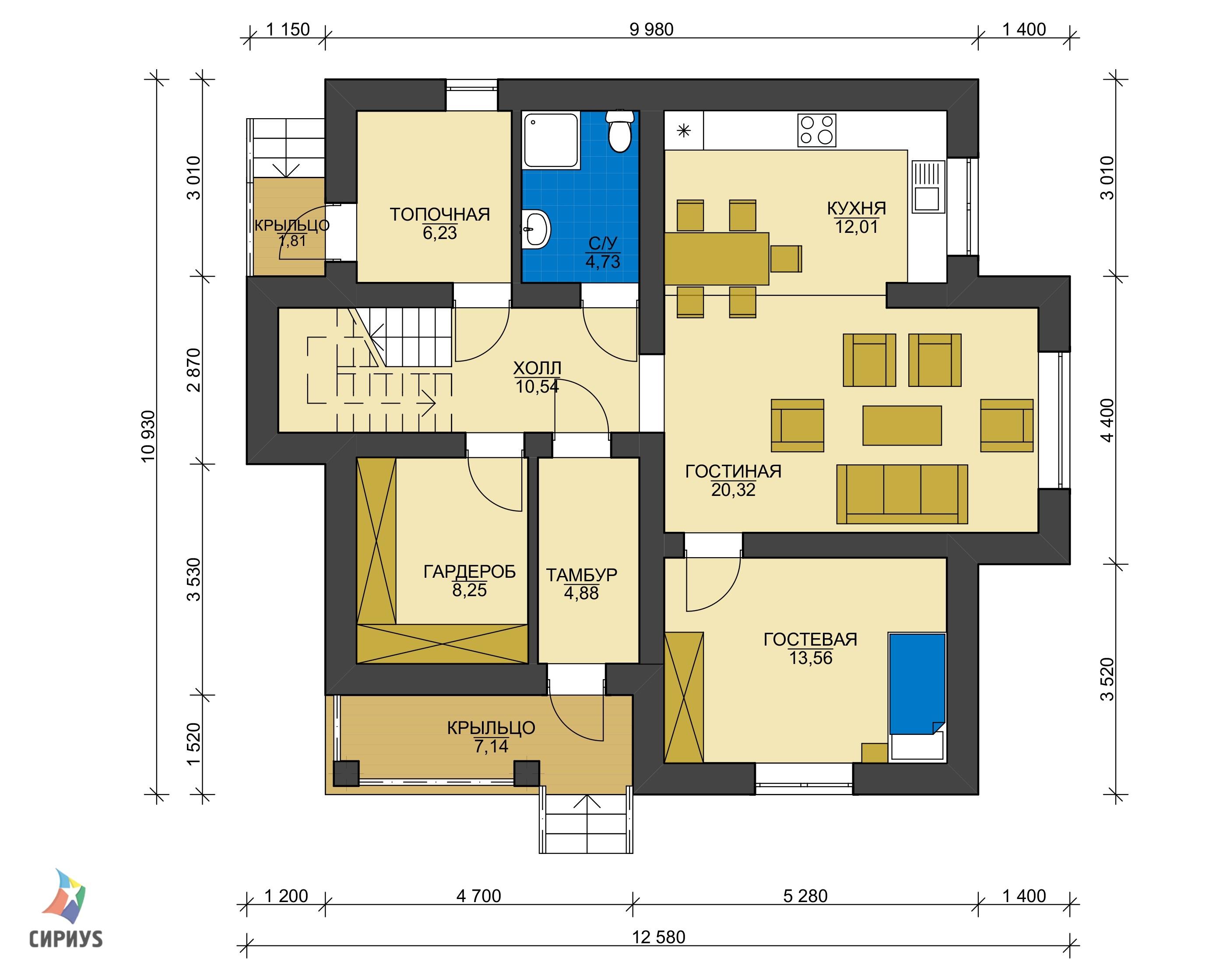 Дом из блоков БСУ-ДБ 15