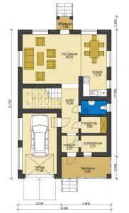 Дом из блоков БСУ-ДБ 21