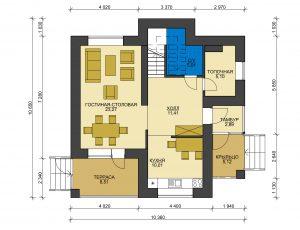Дом из блоков БСУ-ДБ 3