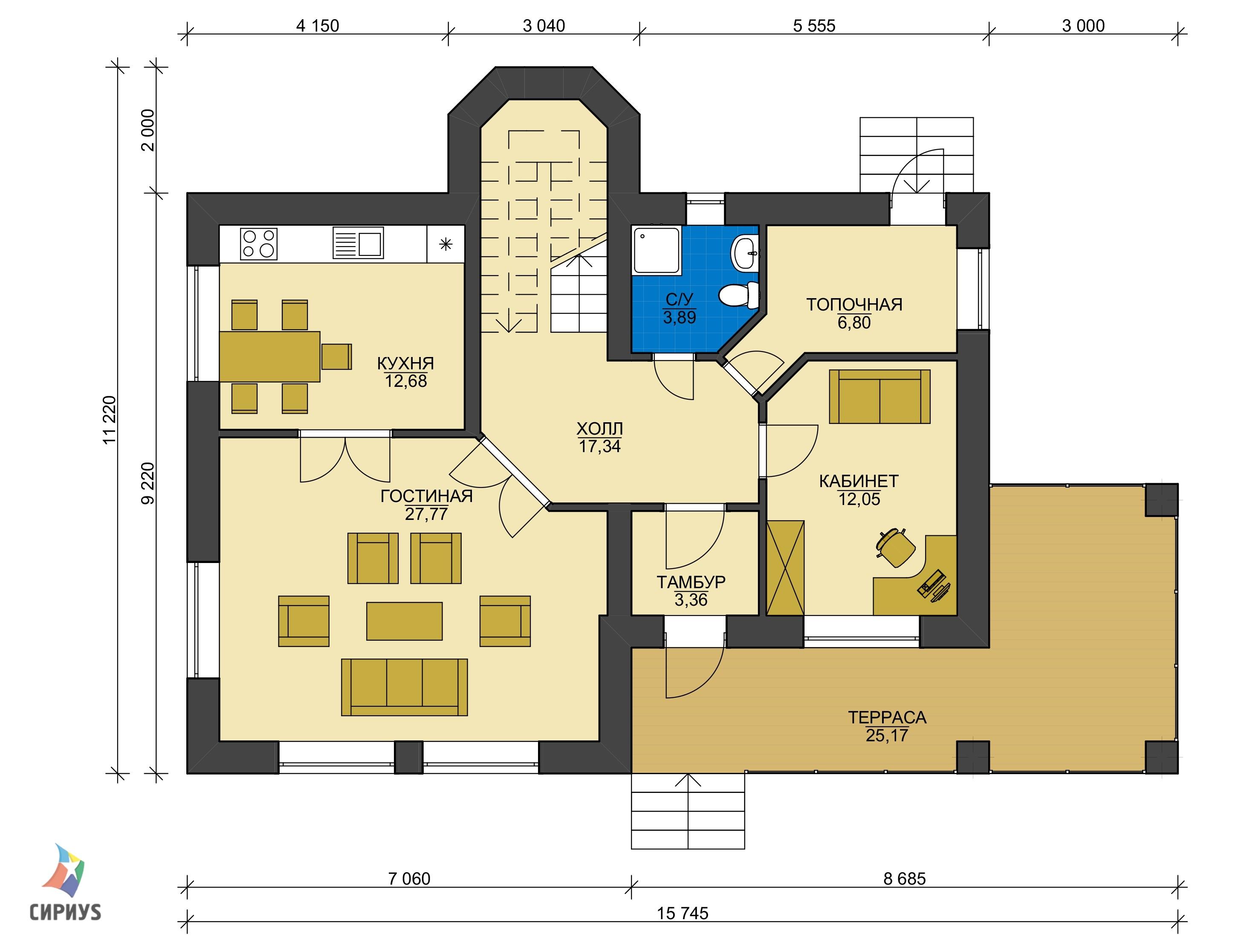 Дом из блоков БСУ-ДБ 27