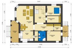 Дом из блоков БСУ-ДБ 40