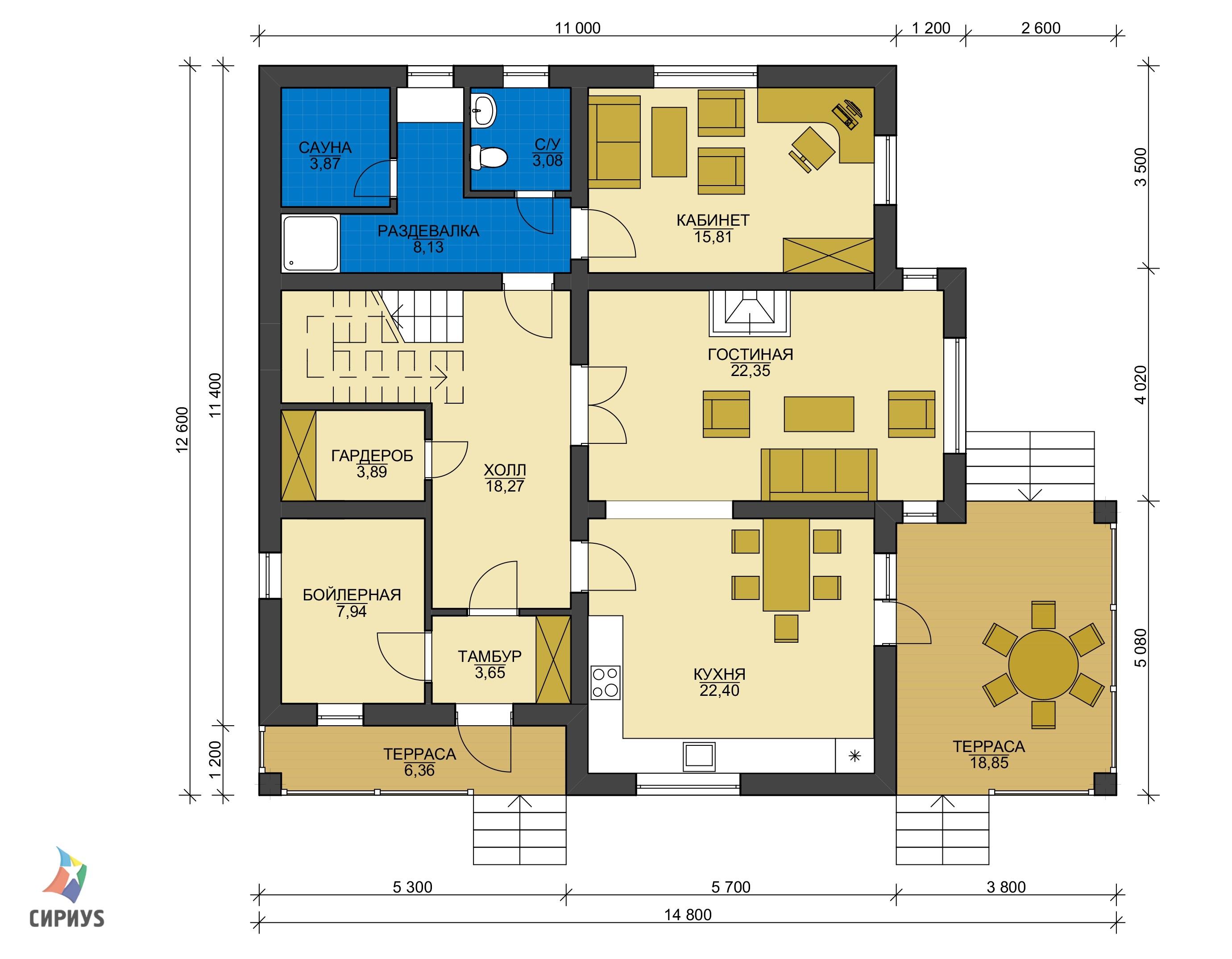 Дом из блоков БСУ-ДБ 41