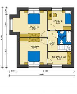 Дом из блоков БСУ-ДБ 2