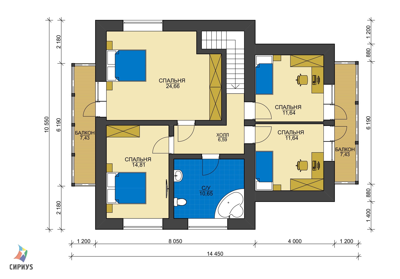 Дом из блоков БСУ-ДБ 24