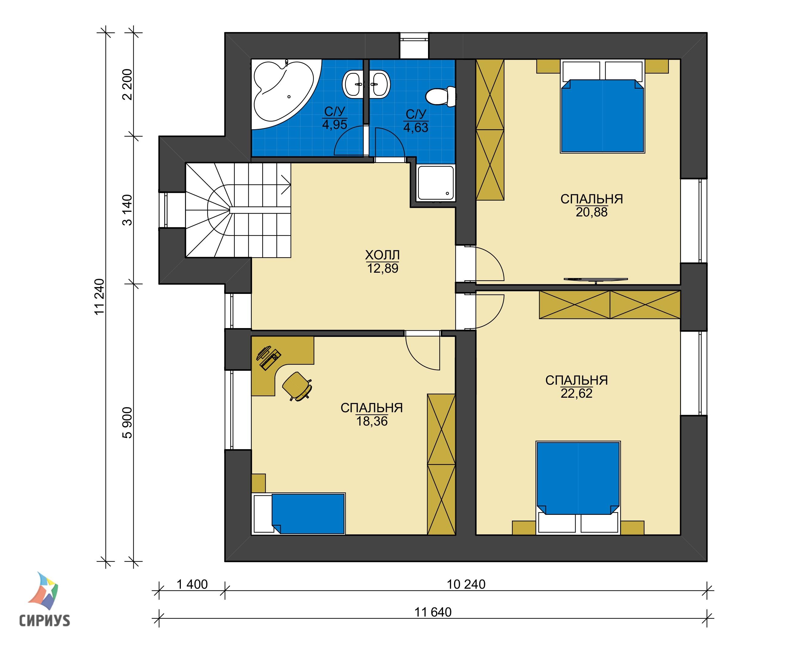 Дом из блоков БСУ-ДБ 30