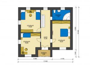 Дом из блоков БСУ-ДБ 32