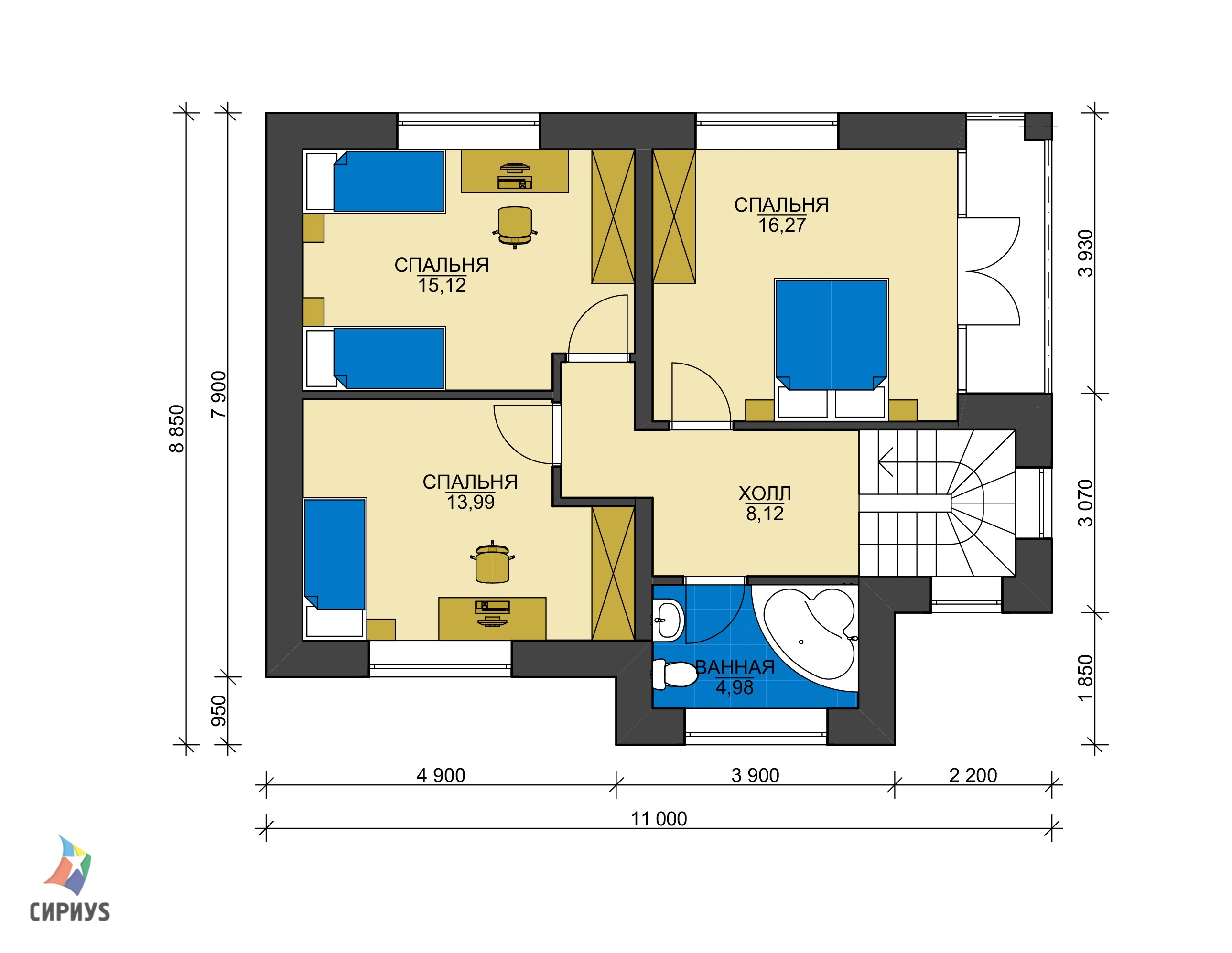 Дом из блоков БСУ-ДБ 7