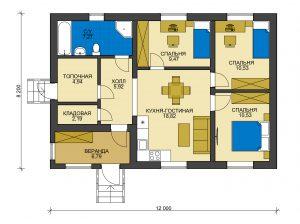 Дом из блоков БСУ-ДБ 1-2