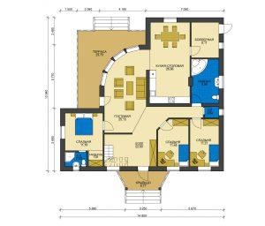 Дом из блоков БСУ-ДБ 1-6